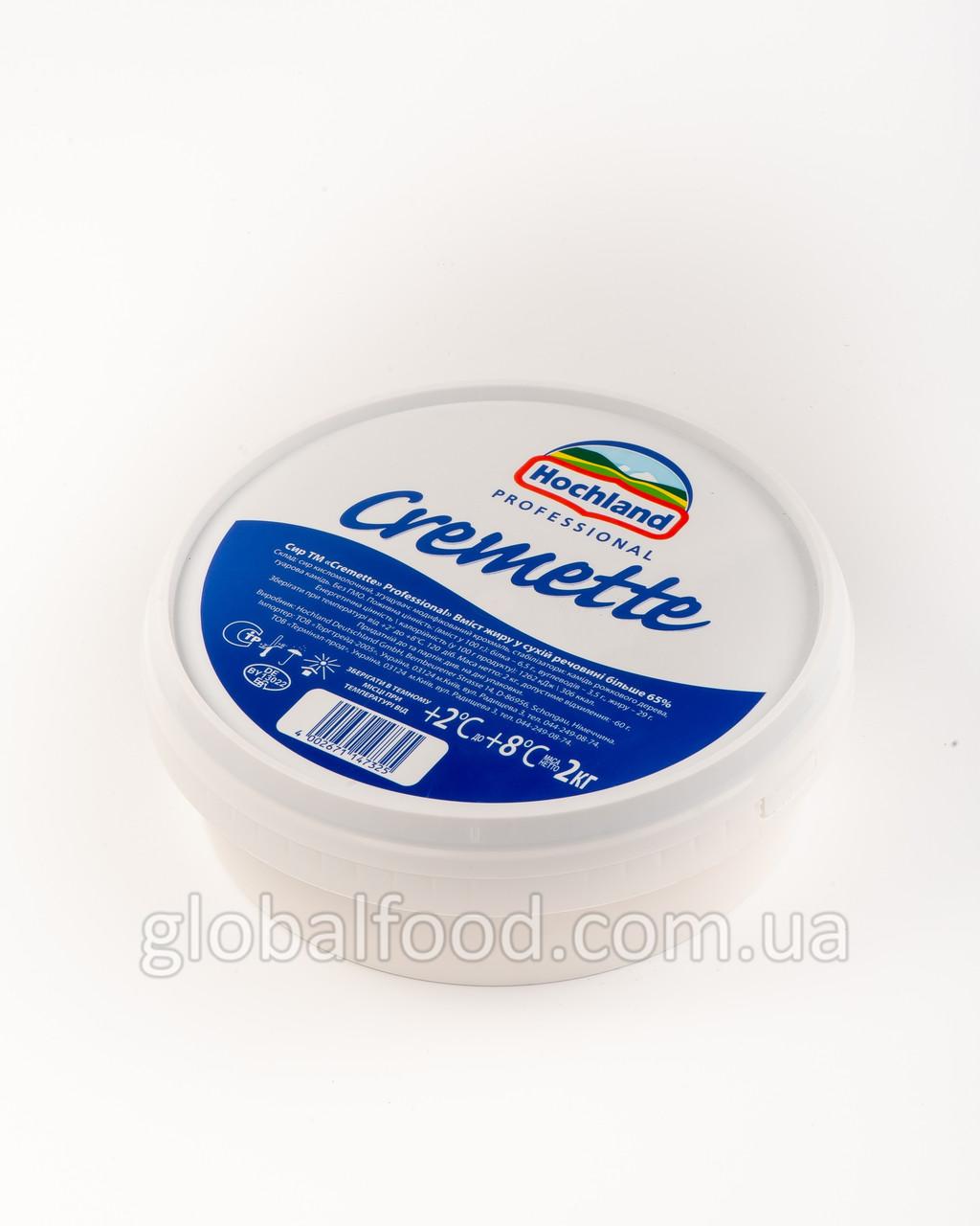 Сыр Сливочный 65% Hochland Сremette Германия  2кг