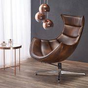 Крісло LUXOR коричневий (Halmar)