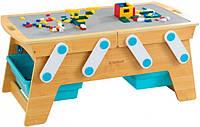 Деревянный игровой стол Building Bricks KidKraft 17512 для конструкторов