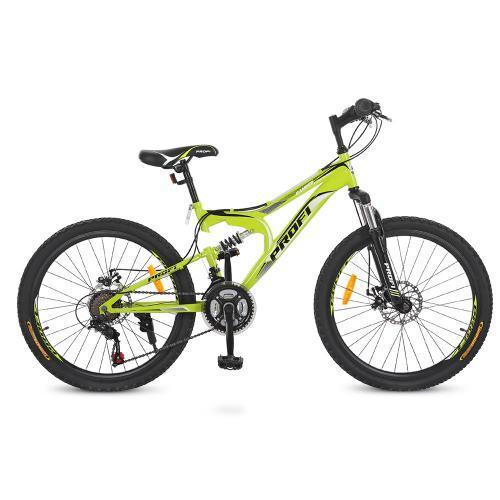 """Детский спортивный велосипед Profi 24"""" G24DAMPER S24.4 стальная рама 15"""""""