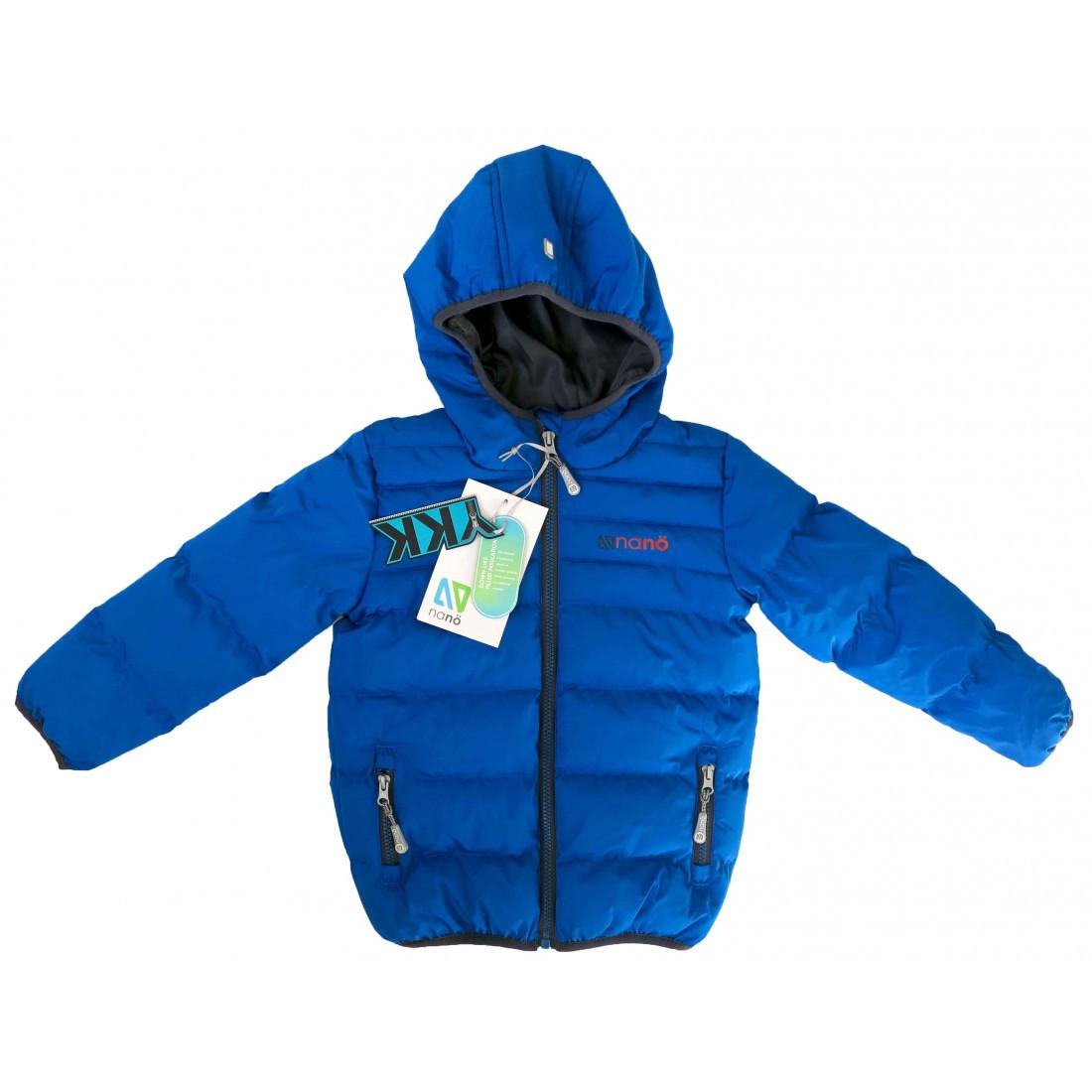 Стеганная демисезонная куртка для мальчика Nano F18M1251 Blue Jay