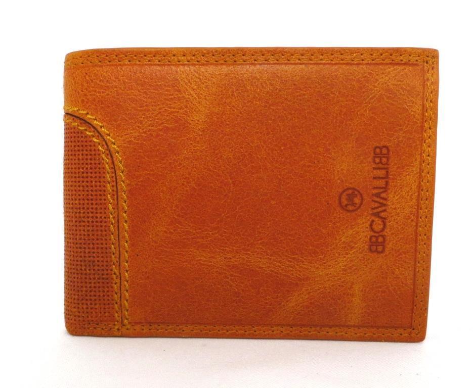 Чоловічий шкіряний гаманець Roberto Cavalli (Італія) Жовтий