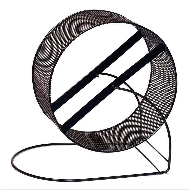 Металлический барабан для грызунов Белка черный d 30 см