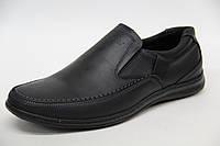 Мужские туфли из натуральной кожи черного цвета Matador 5230 кр