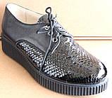Туфли черные женские на широкую ногу от производителя модель БР1012Т, фото 2