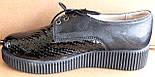 Туфли черные женские на широкую ногу от производителя модель БР1012Т, фото 3