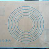 Силиконовый коврик для расскатки теста. Для выпечки 60*40см, коврик для выпекания, фото 2