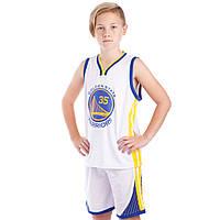 Форма баскетбольная подростковая NB-Sport NBA GOLDEN STATE 30 BA-0973