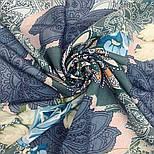 10438-13, павлопосадский платок из вискозы с подрубкой 80х80, фото 6
