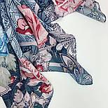10438-13, павлопосадский платок из вискозы с подрубкой 80х80, фото 5