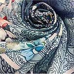 10438-13, павлопосадский платок из вискозы с подрубкой 80х80, фото 2