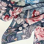 10438-13, павлопосадский платок из вискозы с подрубкой 80х80, фото 4