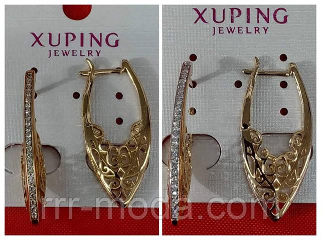 Позолоченные серьги Xuping. Позолоченные украшения Xuping на Украине..