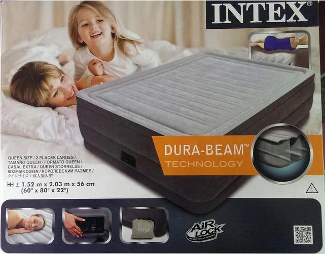 Надувная велюр кровать 64418, встр эл насос 220В, 203-152-56 см, оригинал