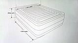 Надувная велюр кровать 64418, встр эл насос 220В, 203-152-56 см, оригинал, фото 3