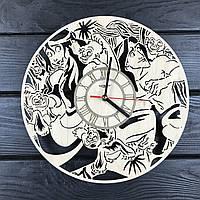 Детские интерьерные часы на стену «Тарзан и его друзья», фото 1