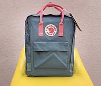 Стильный рюкзак трансформер Kanken зеленый