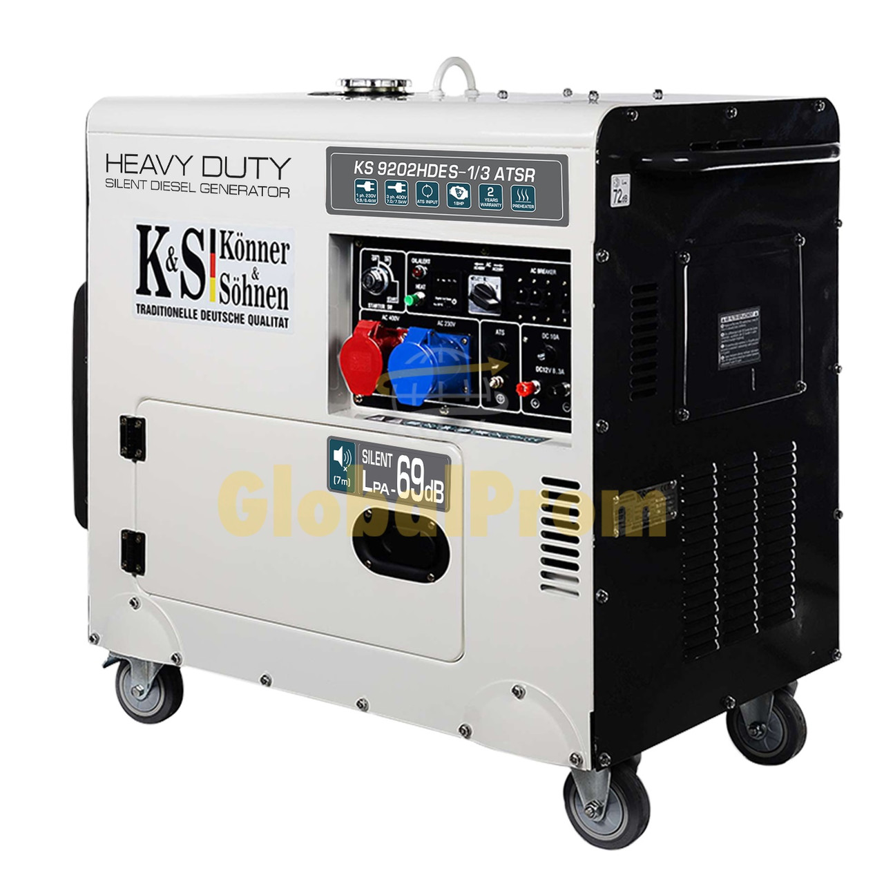 Дизельный генератор Könner & Söhnen KS 9202HDES-1/3 ATSR (двигатель Euro II)