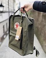 Стильный рюкзак трансформер Kanken болотный
