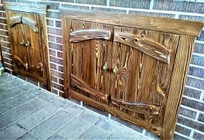 Мебельный фасад из натурального дерева под старину фото