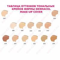Тональный крем DERMACOL Make-Up Cover 207,209,212,213,214,215,218,222,223,224 Оригинал Чехия