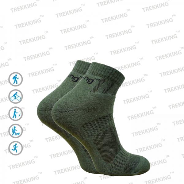"""Трекінгові шкарпетки демісезонні ТМ """"Trekking"""" Short (короткий) зелені"""