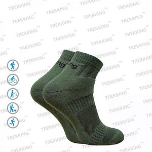 """Трекинговые носки демисезонные ТМ """"Trekking"""" Short (короткие) зелёные"""
