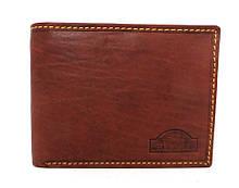 Чоловічий шкіряний гаманець (Італія) Коричневий