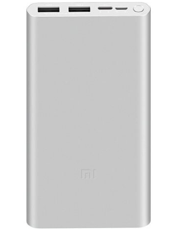Внешний аккумулятор Xiaomi Mi PowerBank 3 New 10000mAh Type-C Silver