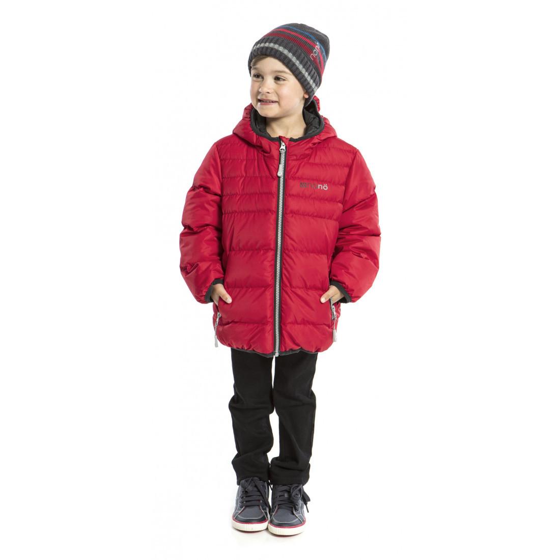 Стеганная демисезонная куртка для мальчика Nano F17M1251 Salsa Red