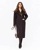 Пальто женское зимнее с меховой отделкой