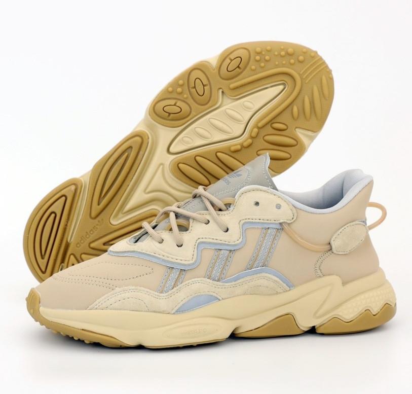 Чоловічі кросівки Adidas Ozweego Beige Рефлективні 41-45р. Живе фото. Репліка