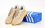 Чоловічі кросівки Adidas Ozweego Beige Рефлективні 41-45р. Живе фото. Репліка, фото 4