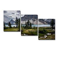 "Модульна картина ""Озеро Боу Канада"" 124х70см, фото 1"