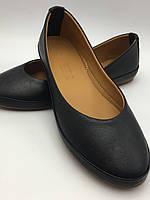 Чёрные кожаные балетки Турция, мягкие ., фото 1