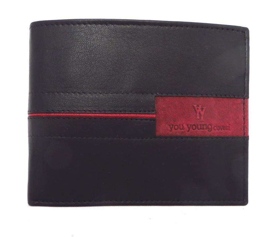 Чоловічий шкіряний гаманець (Італія) Чорний