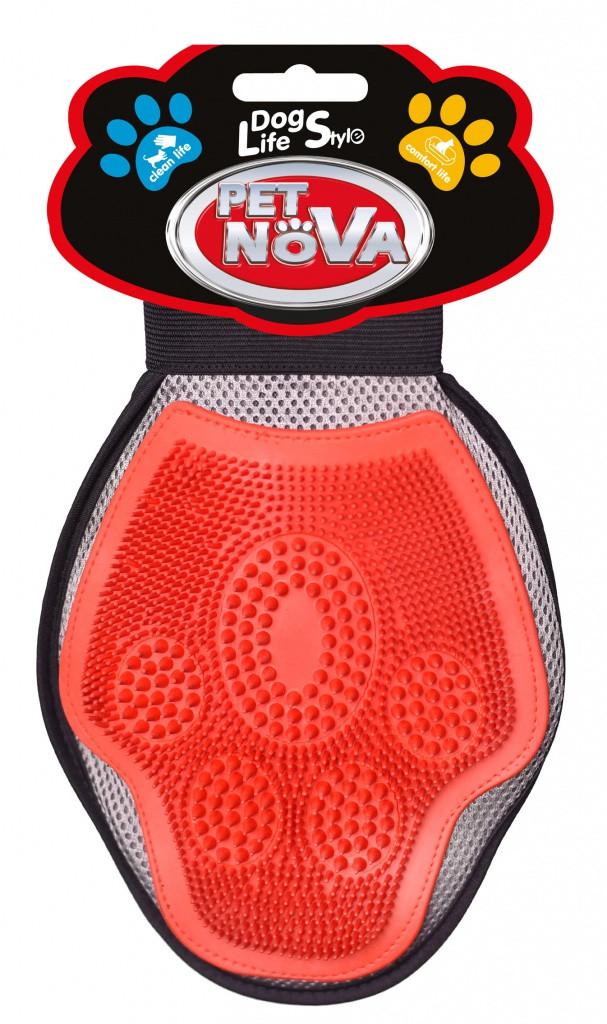 Двостороння грум рукавичка для вичісування шерсті PetNova 3в1, універсальна