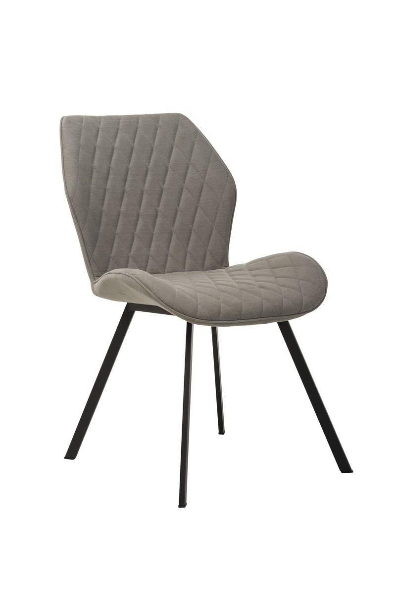 Обідній стілець М-40 сірий від Vetro Mebel у тканини