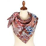 10438-16, павлопосадский платок из вискозы с подрубкой 80х80, фото 3
