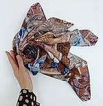 10438-16, павлопосадский платок из вискозы с подрубкой 80х80, фото 9