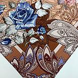 10438-16, павлопосадский платок из вискозы с подрубкой 80х80, фото 6