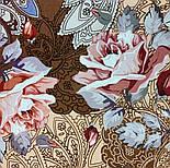 10438-16, павлопосадский платок из вискозы с подрубкой 80х80, фото 2
