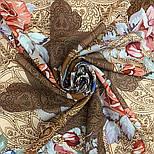 10438-16, павлопосадский платок из вискозы с подрубкой 80х80, фото 4