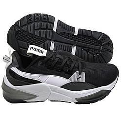 Мужские кроссовки беговые черно-белые похожие на Puma LQD