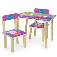 Детский столик и два стульчика 501-80 Peppa Pig.