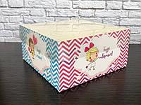 Коробка для капкейков на 4 шт. 160Х160Х80 мм. с прозрачной крышкой, Пожелания, фото 1
