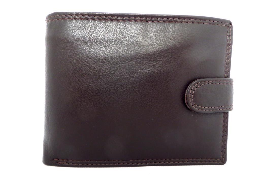 Чоловічий шкіряний  гаманець (Італія) Темно коричневий