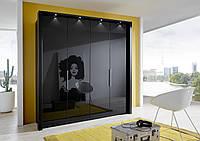 Шкаф с стеклянными фасадами модель Миро