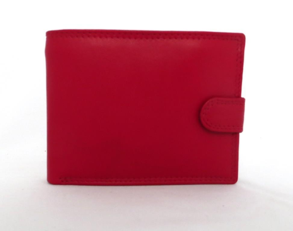 Чоловічий шкіряний  гаманець (Італія) Червоний
