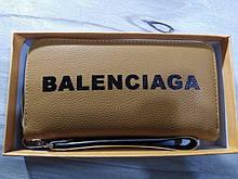 Гаманець жіночий Balenciaga, Баленсіага репліка, екошкіра, гірчичний